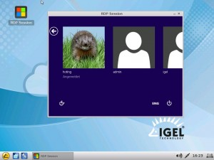 IGEL Linux V5: Running a RemoteFX Session as window