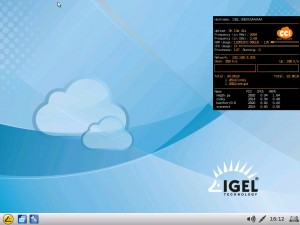 IGEL Linux V5: Running DATI (ILISE) V1.06 Custom Partition Sample Conky
