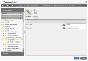 Configure the session to switch to a resolution
