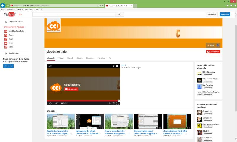 cloud-client.info @ YouTube